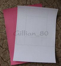 šablona na krabičky - A3 - dno (spodní díl je o 2 mm menší, aby šla krabička dobře zavírat)