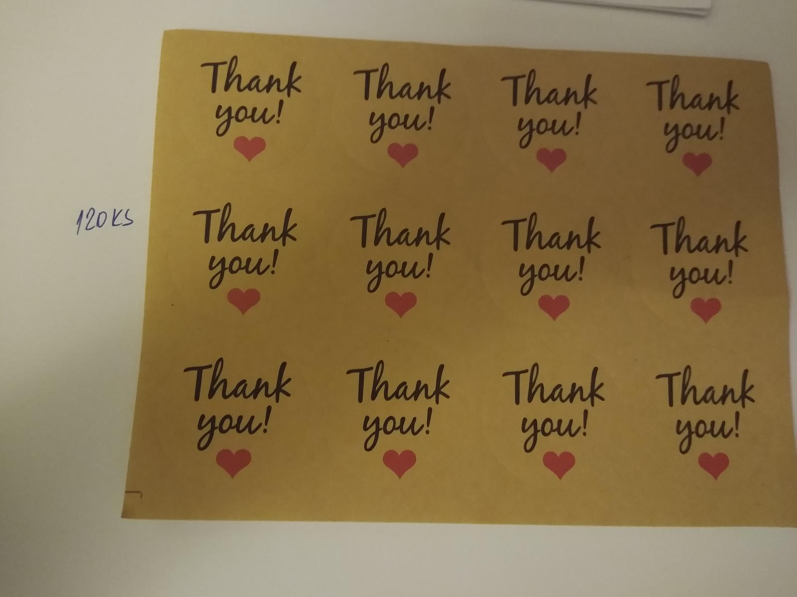 Nalepky thank you - Obrázok č. 1