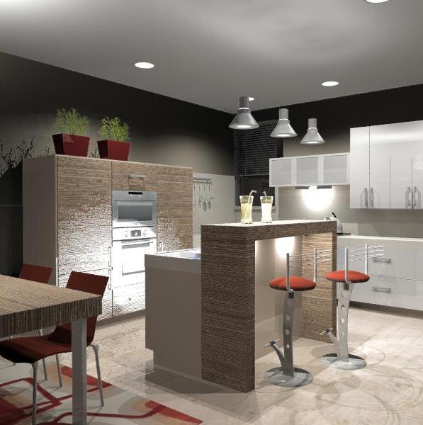 Ako si staviame sen - inšpirácie na kuchyňu - kuchyna bude ciastocne oddelena pultikom - asi nejak takto...