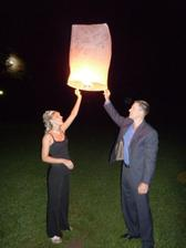 pouštění lampionu s přáníčky