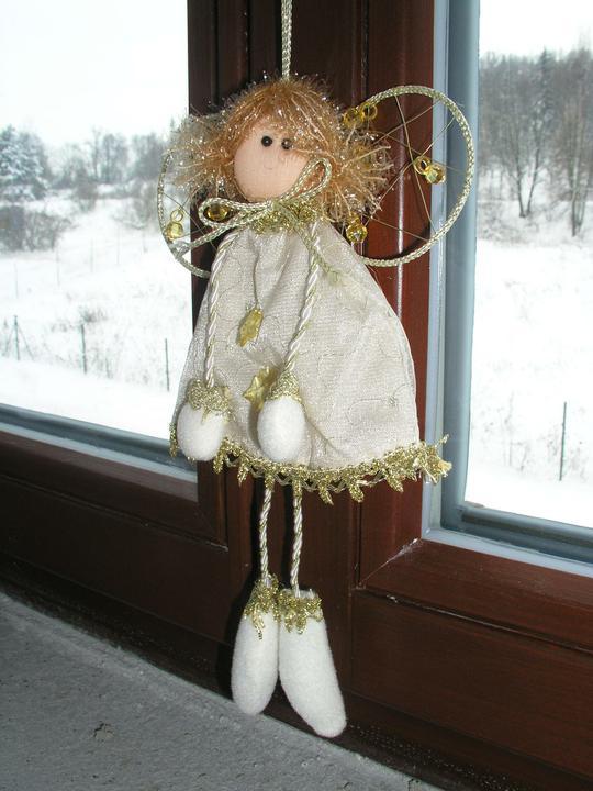 Vánoční svátky u nás doma - Na okně v obýváku...