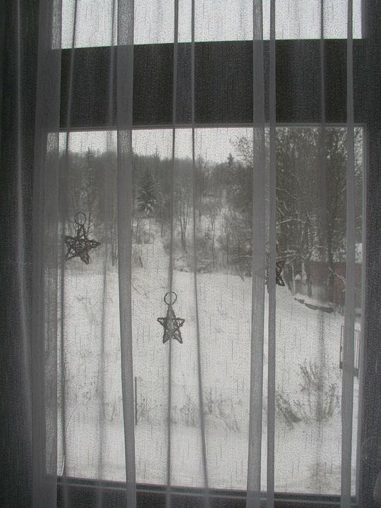 Vánoční svátky u nás doma - Vánoční okno...