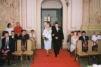 Profi fotky-příchod ženicha...