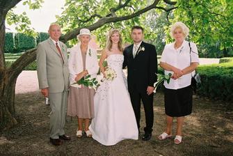 s mými prarodiči a manželovou tetou