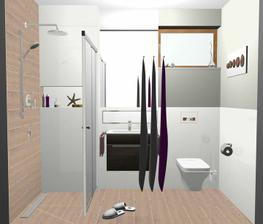2. verzia, imit. dreva aj na stene za sprchou. Poradte prosim ak mozte, neviem sa rozhodnut....