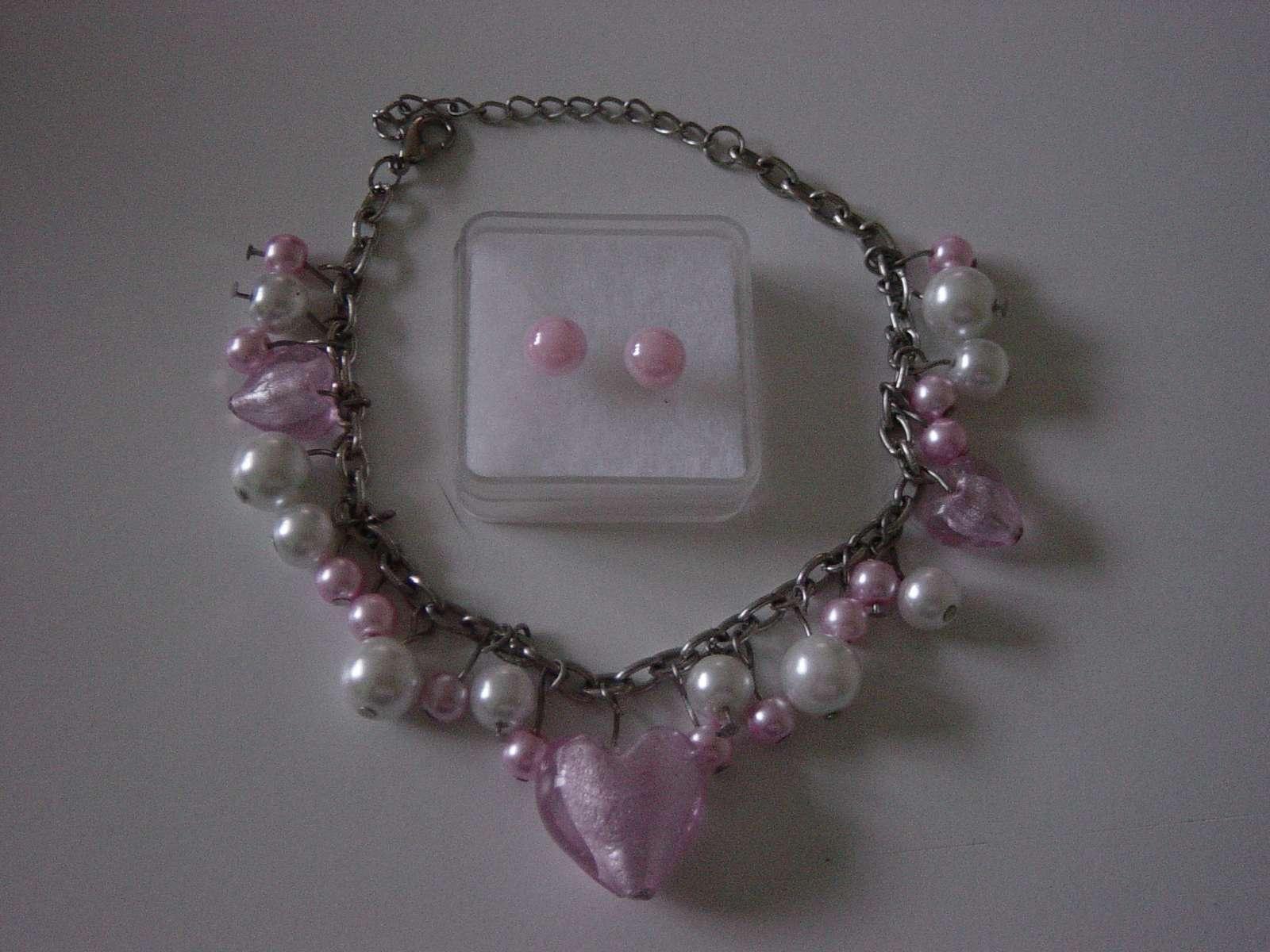 2 radový náhrdelník z ružových perličiek - Obrázok č. 4