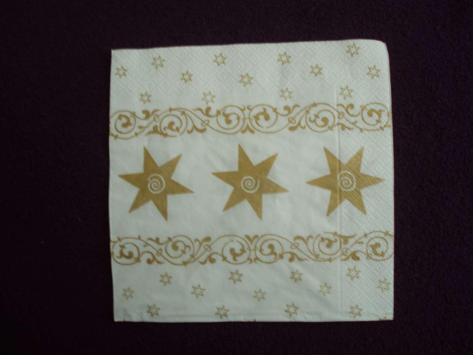 Zlato biele anjelikové servítky (40 ks) - Obrázok č. 3