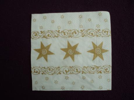 Zlato biele hviezdičkové servítky (100 ks) - Obrázok č. 1