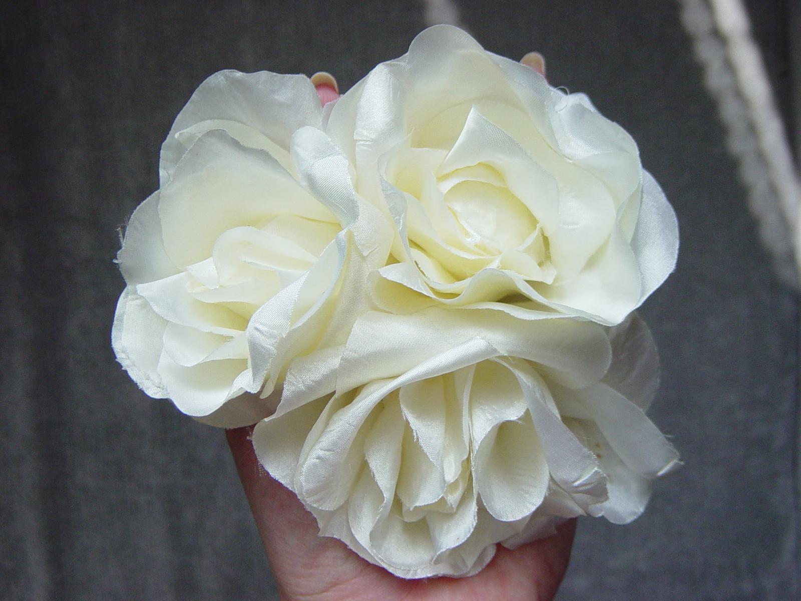 2 smotanové ruže - Obrázok č. 1