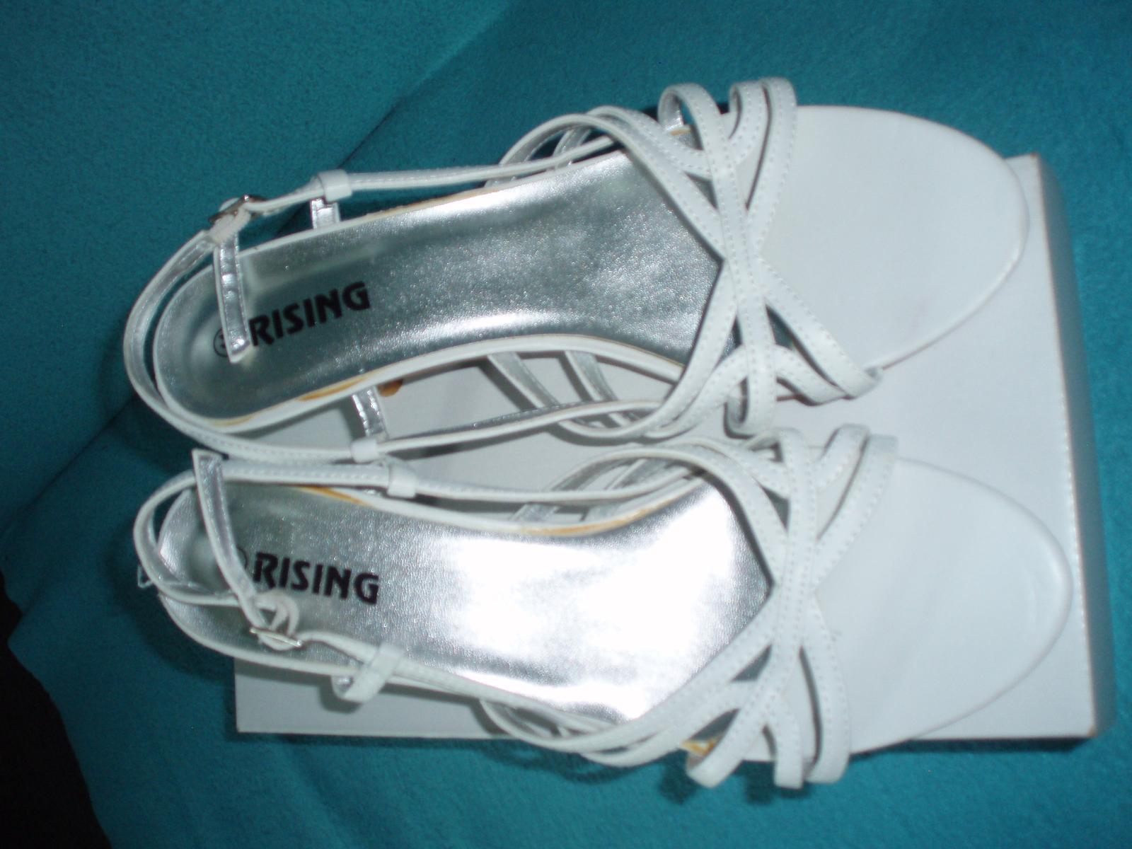 Biele remienkové sandálky - Obrázok č. 4