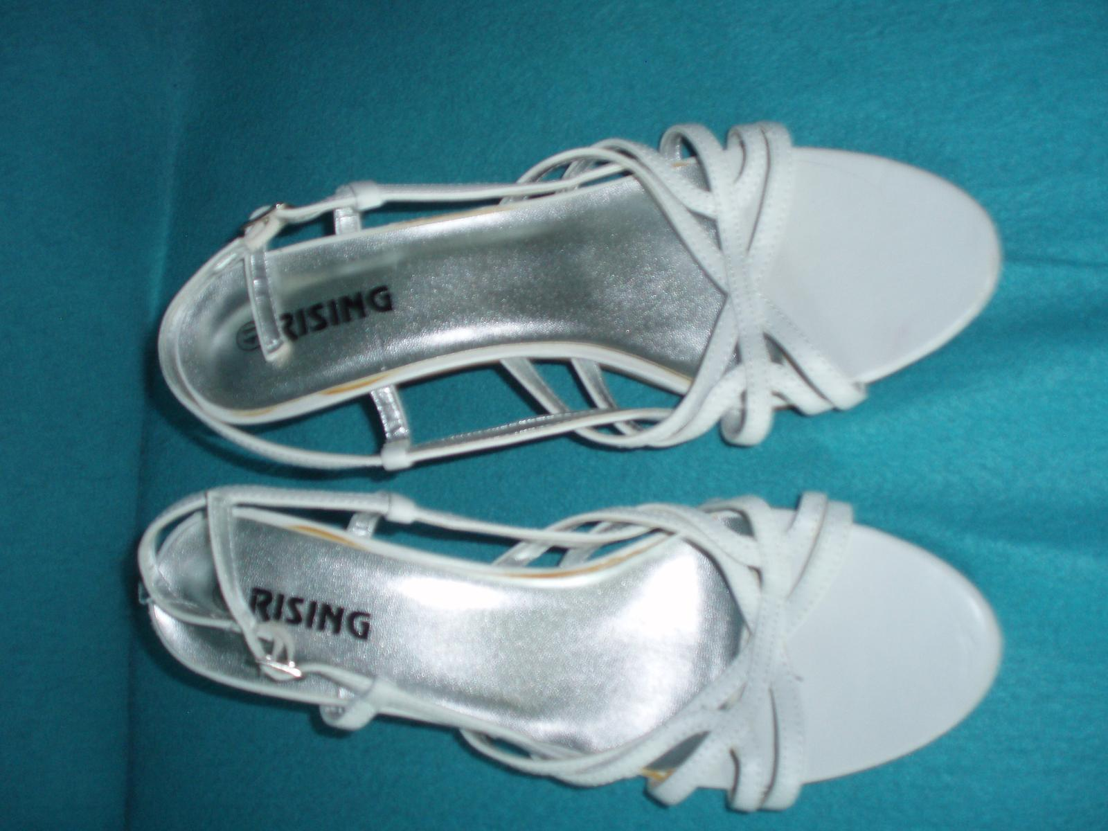 Biele remienkové sandálky - Obrázok č. 1