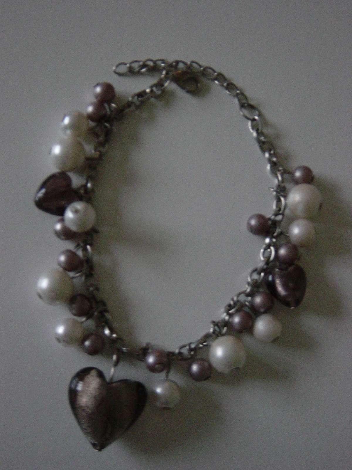 Náramok z perličiek a muránskeho skla - Obrázok č. 1