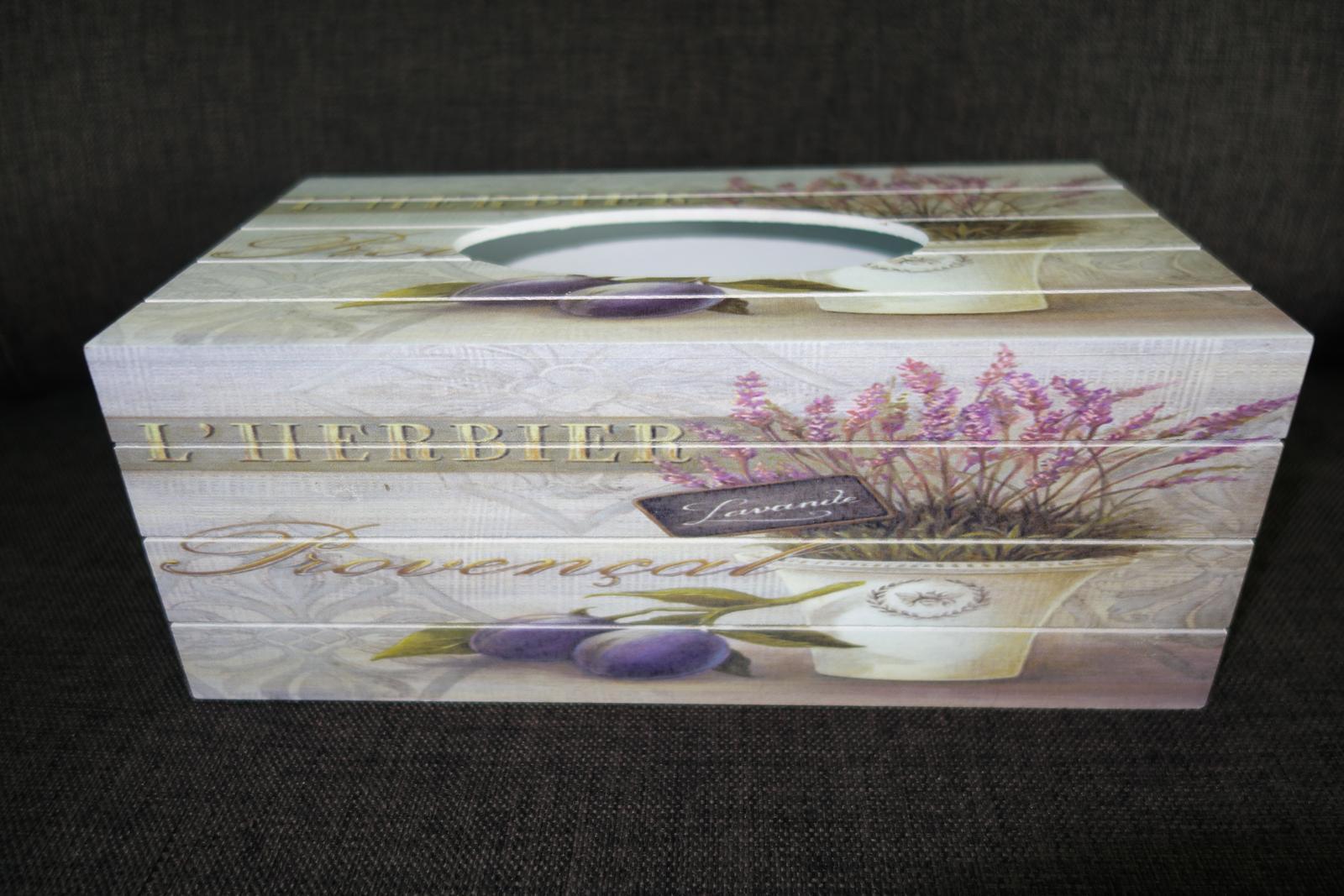 Krabička na vreckovky v Provensálskom štýle - Obrázok č. 2