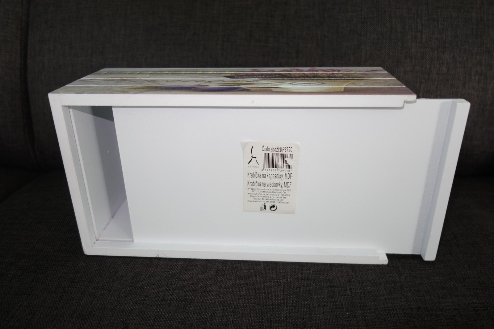 Krabička na vreckovky v Provensálskom štýle - Obrázok č. 3