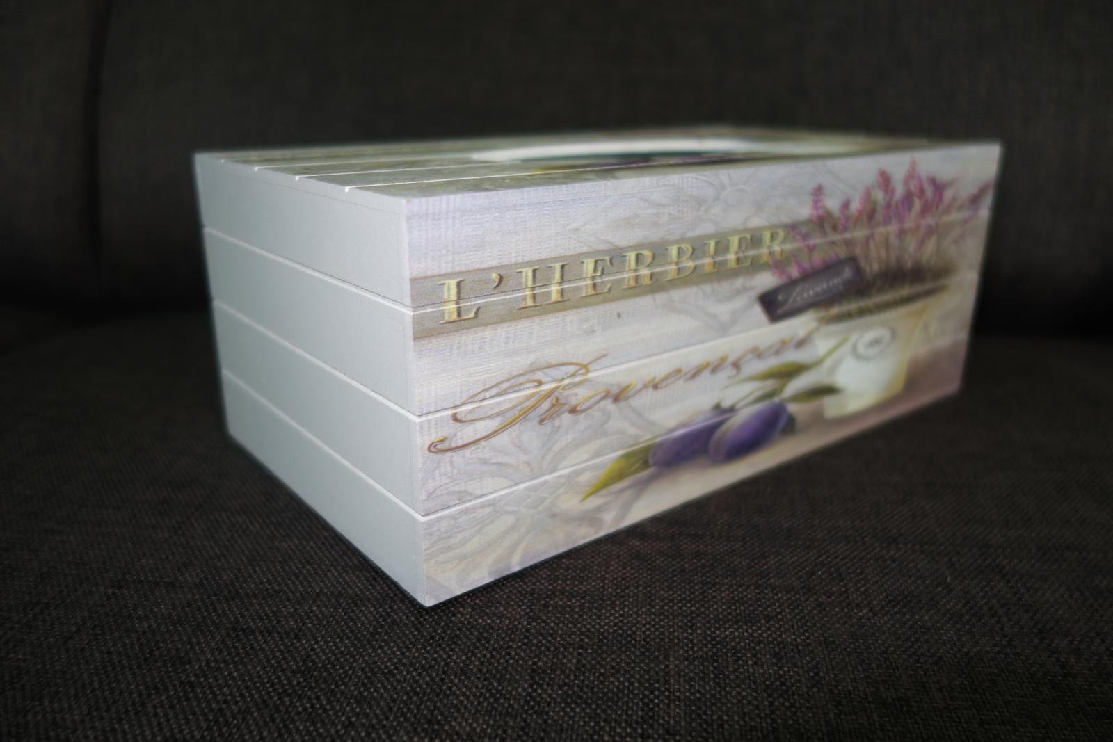 Krabička na vreckovky v Provensálskom štýle - Obrázok č. 4