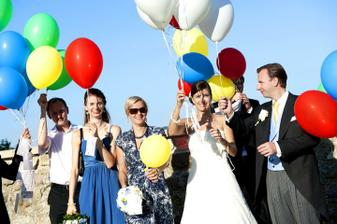 Balony leteli do neba...a niektore priania dosli postou naspat :)