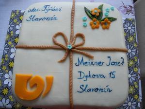 tenhle dortík,dostal přítel ke svátečku