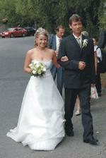 Nevěsta s tatínkem :-))