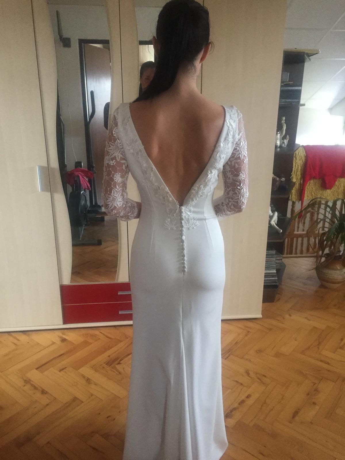 Svadobné prípadne popolnočné šaty šité na mieru - Obrázok č. 2