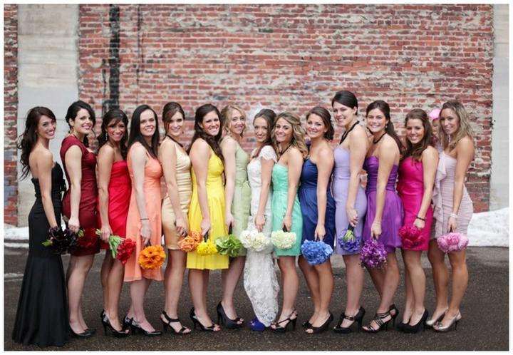 Keby som sa mohla odviazať, moja svadba snov by vyzerala takto... - saty pre druzicky