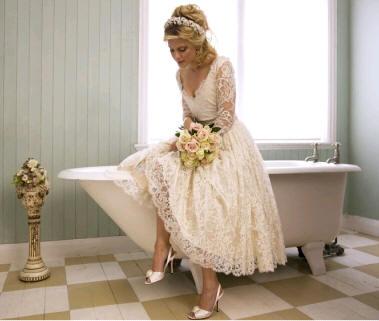 Svadobné šaty - vintage - Kate Halfpenny Christabelle