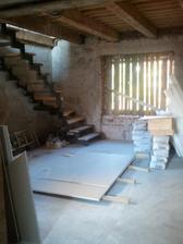provizorne dosky na schodoch