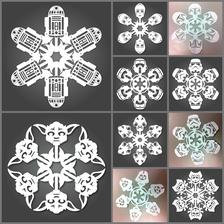 star wars snowflakes :-) navod tu: http://mattersofgrey.com/diy-star-wars-snowflakes/