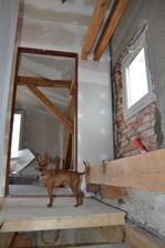 okno nad schodmi a model co sa do kazdej foto vtrepe :-)