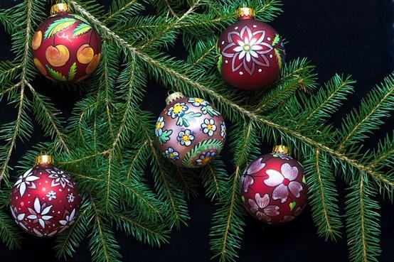 Trochu ine Vianoce - inspiracie - Malovane
