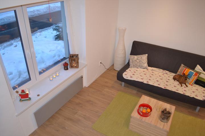 U nás - v malom dome :-) - nasa docasna roztahovacka z Ikea