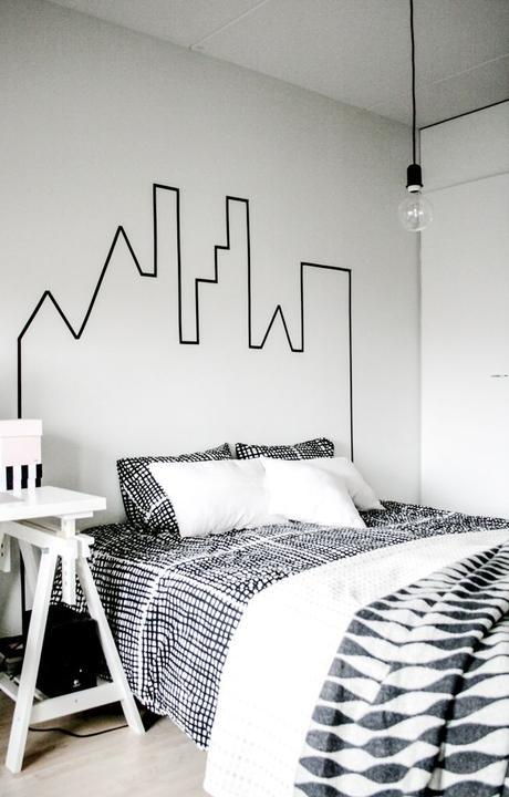 WASHI pásky - ako celo postele