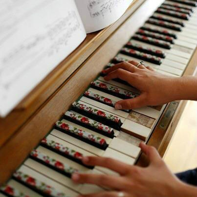 WASHI pásky - na klaviri :-)