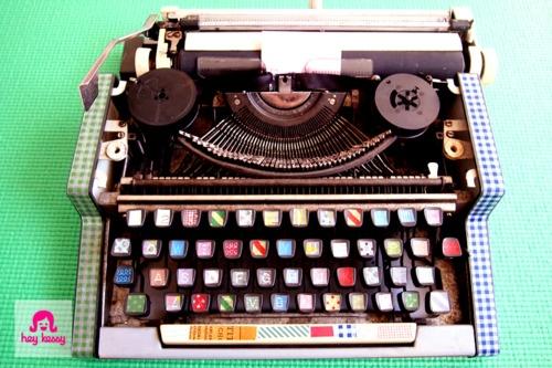 WASHI pásky - na starom pisacom stroji :-)