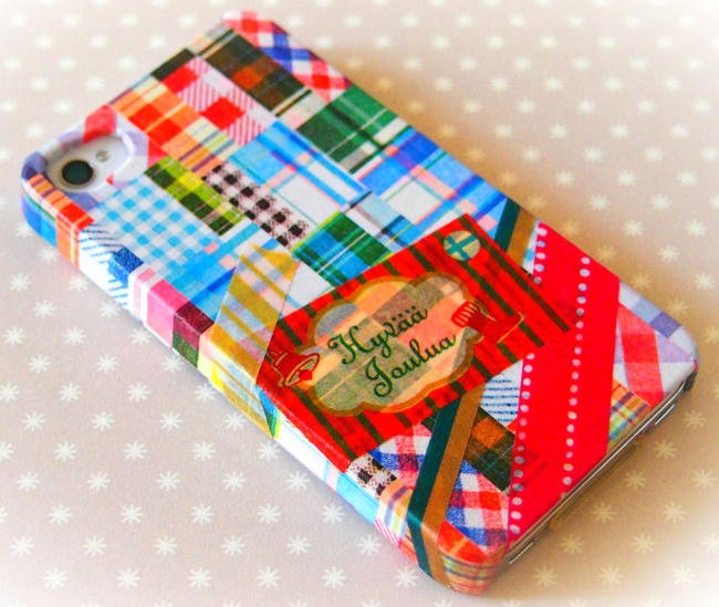 WASHI pásky - na obale na mobil