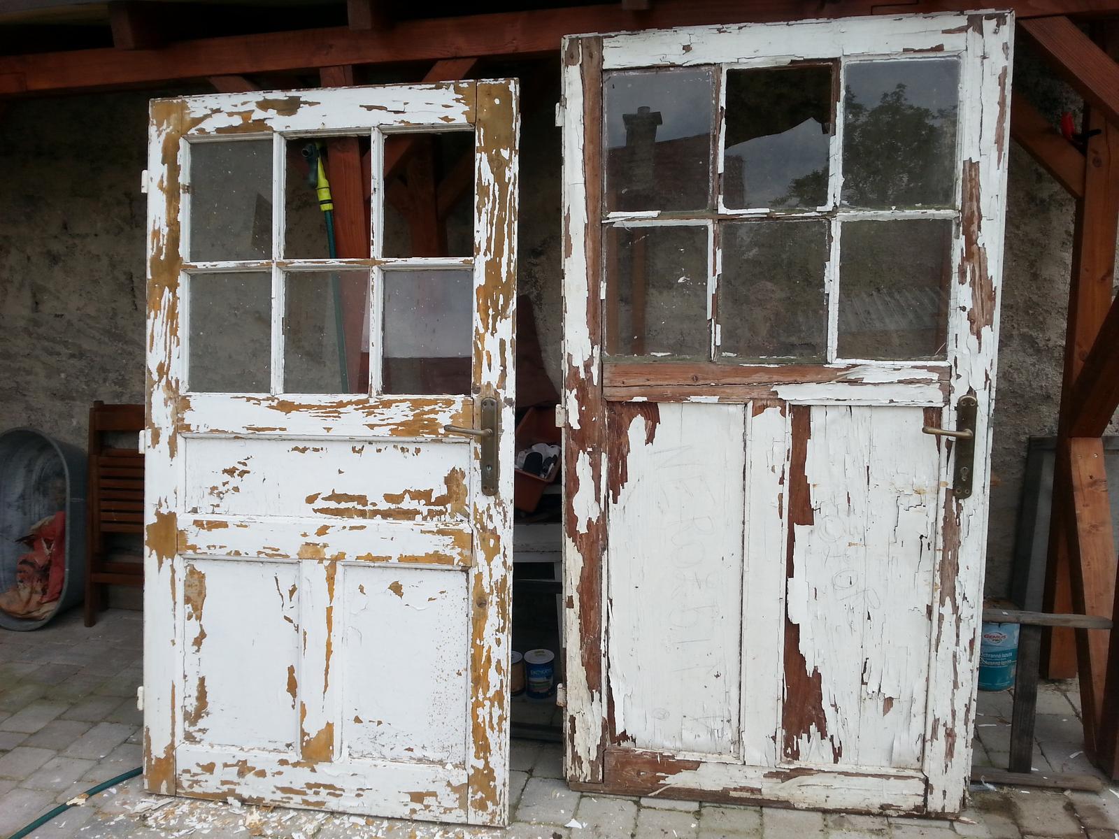 Projekt - záhrada ;-) - zvysne dvere pred prvym cistenim
