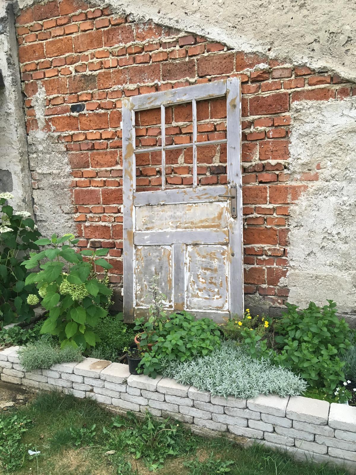 Projekt - záhrada ;-) - Romatická divočina :D všetky rastlinky posadené aj s kvetináčmi, aby sa dali preniesť pri sťahovaní