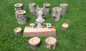 Vázičky, svícny, jmenovky ze dřeva,