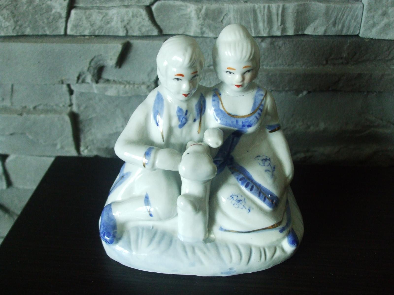 Modro-biela keramika-dekorácia - Obrázok č. 1