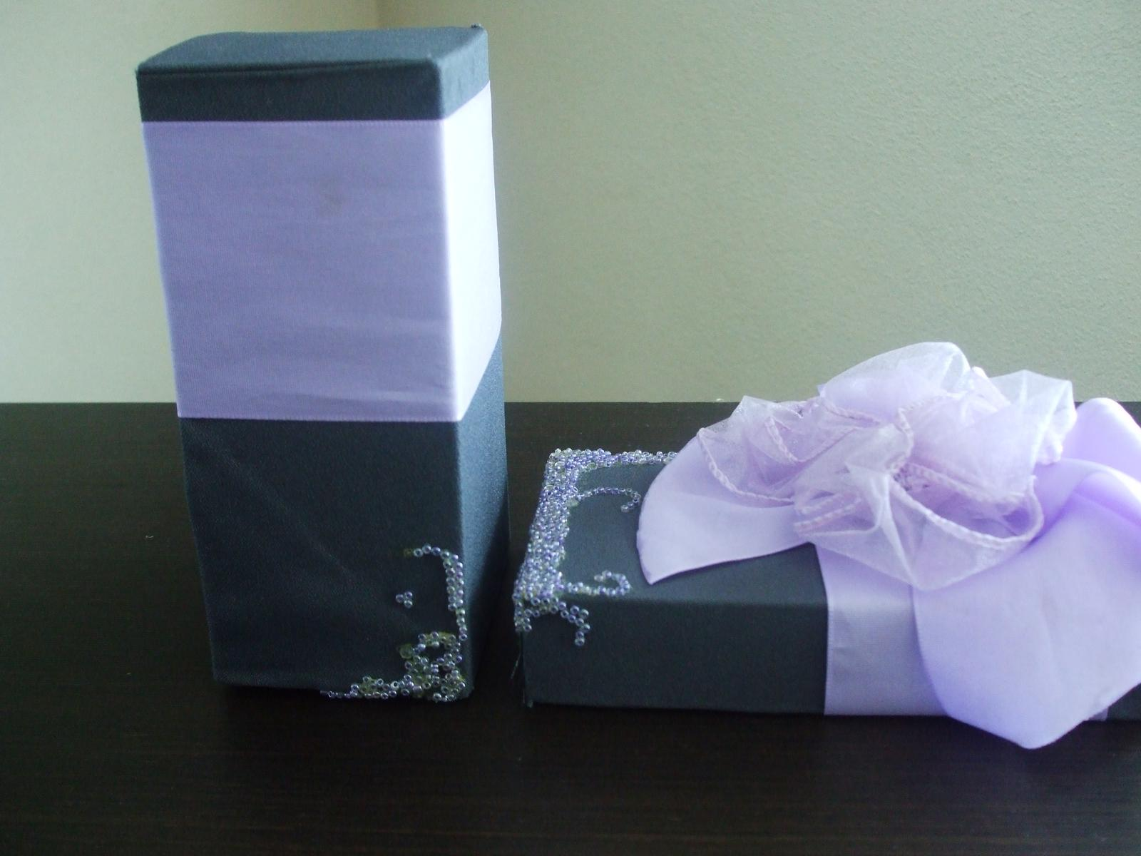 Dekoračná darčeková krabica s mašľou - Obrázok č. 3
