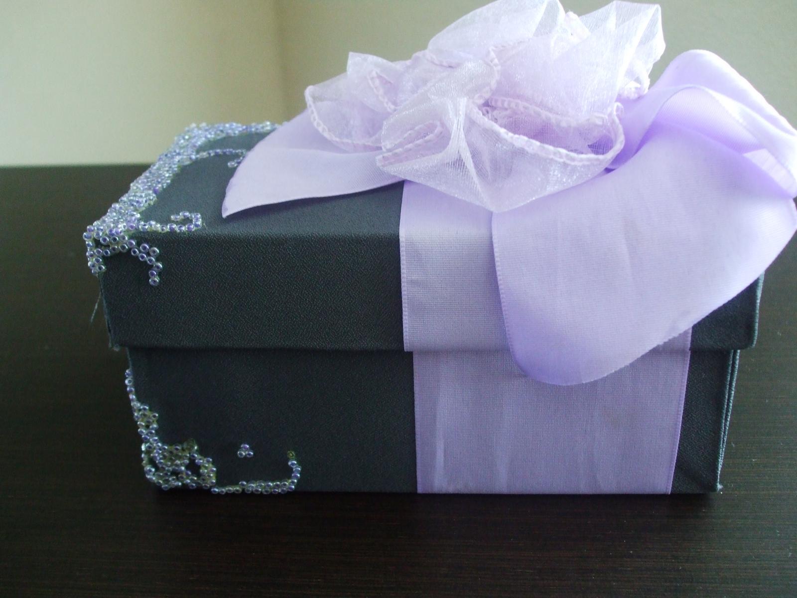 Dekoračná darčeková krabica s mašľou - Obrázok č. 4