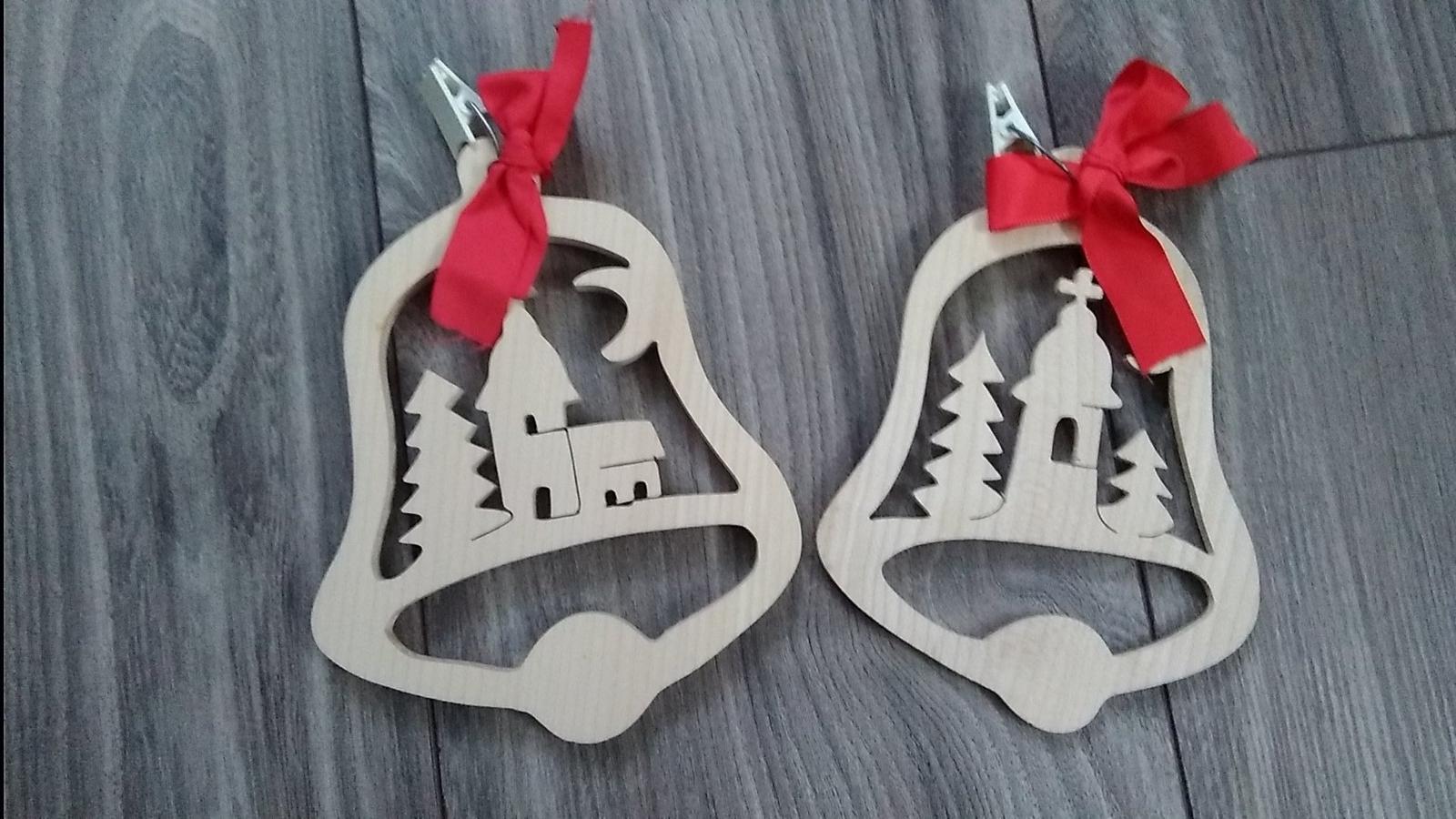 Drevená vianočná dekorácia - Obrázok č. 1