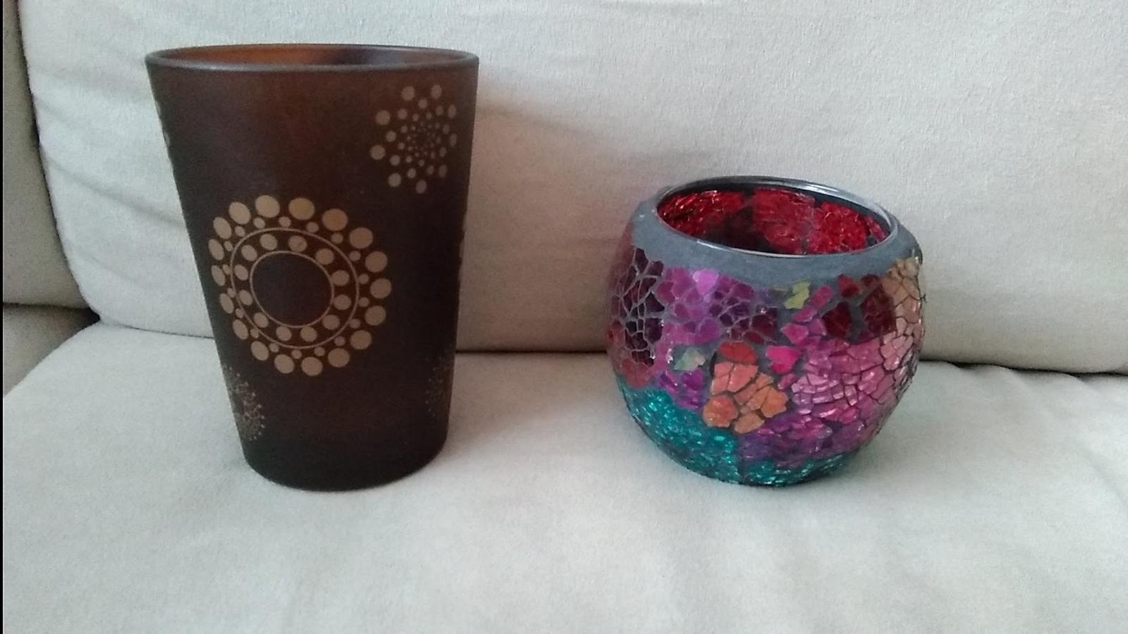 Sklenené svietniky na čajové sviečky - Obrázok č. 2