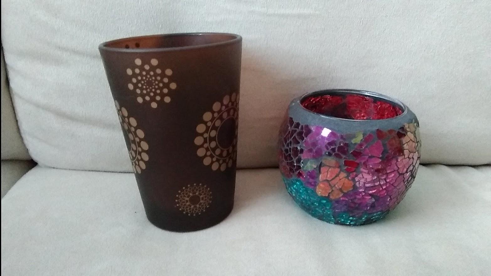 Sklenené svietniky na čajové sviečky - Obrázok č. 3