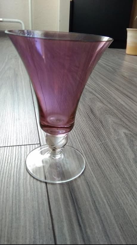 Retro ružové poháre-5 ks - Obrázok č. 3