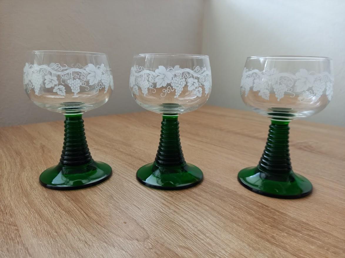 Retro poháre-3 kusy - Obrázok č. 1