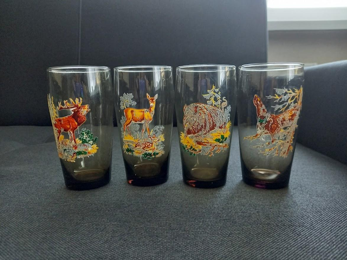 Retro poháre-4 kusy - Obrázok č. 1