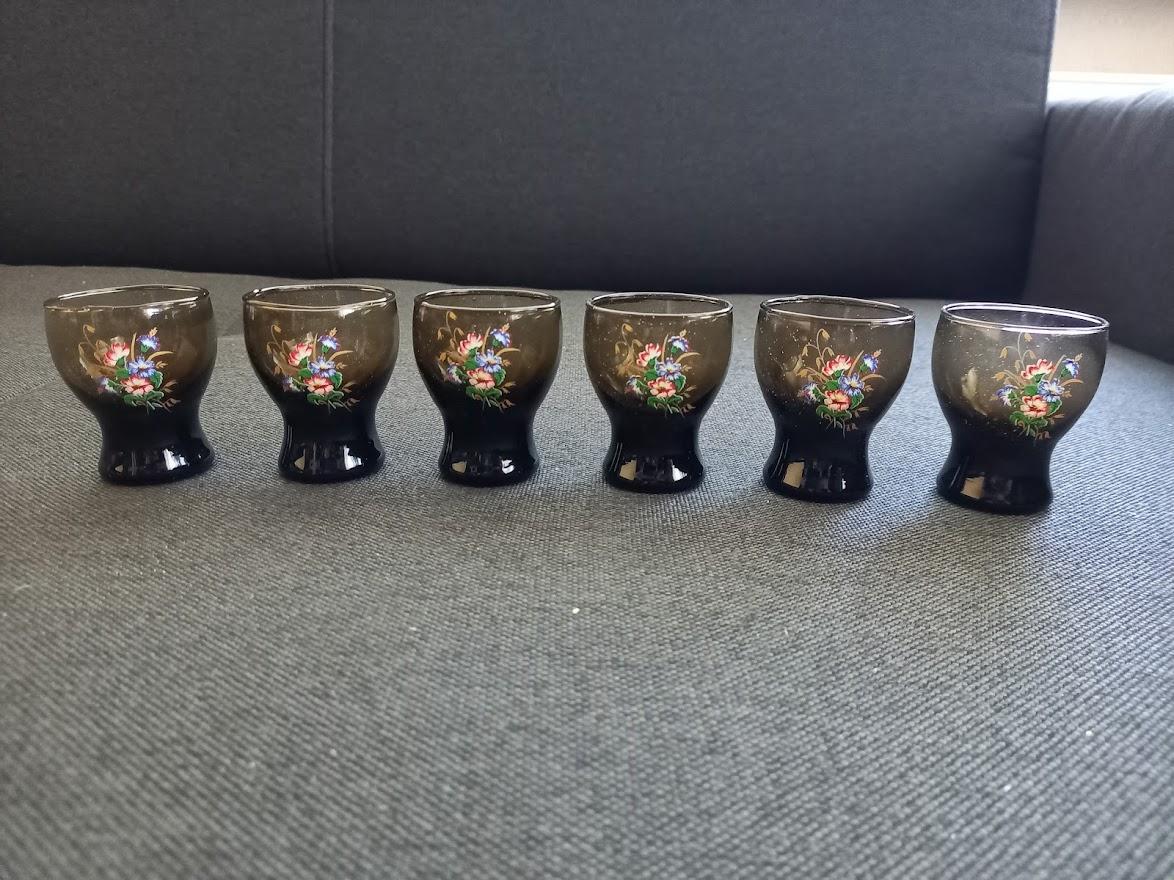 Retro pálenkové poháriky-6 ks - Obrázok č. 1