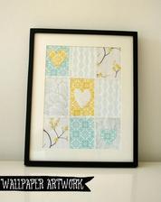 idete na svadbu a nestíhate kúpiť darček??? :) ... jednoduché riešenie :) ... kúpte baliace papiere, rám na obraz a vyrobte mladomanželom koláž :)