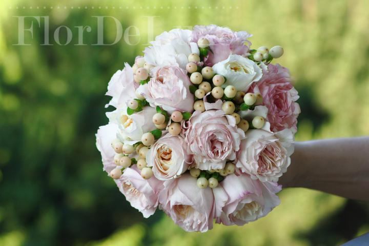 ❤️ Svadobné kytičky pre naše krásne nevestičky 2014 ♥ - Romantická kytička z anglických ruží