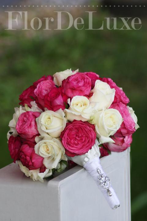 ❤️ Svadobné kytičky pre naše krásne nevestičky 2014 ♥ - Svadobná kytica z ruží a anglických ruží